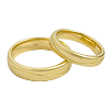 Wedding rings yellow gold