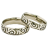 Wedding rings white gold silver platinum palladium
