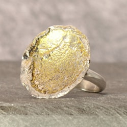 Ring Silver Gold